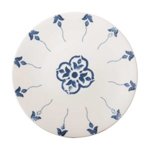 ceramic plate dining dinner plate indigo floral