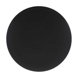 classic round platter satin charcoal black