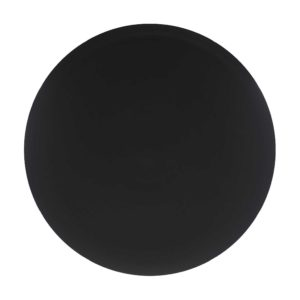 classic round platter satin charcoal black