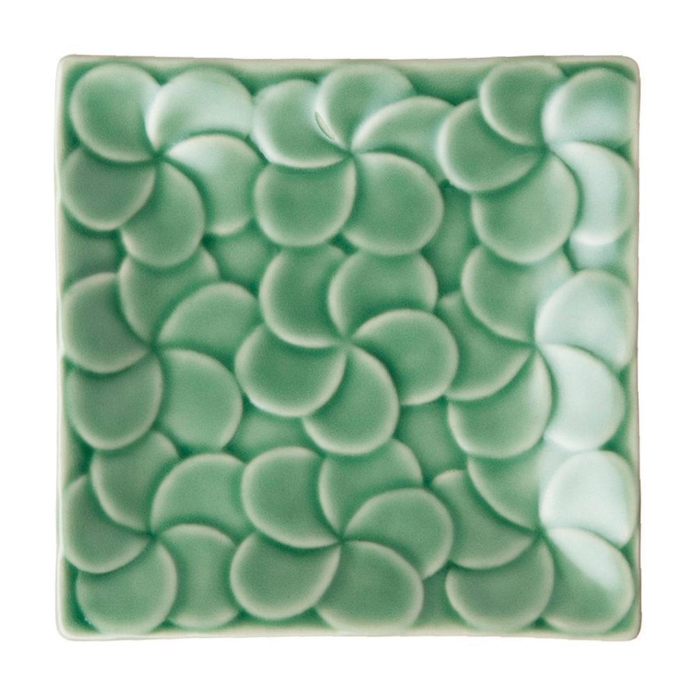 Full Pattern Frangipani Square Bread & Butter Plate