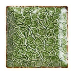 ceramic plate hibiscus collection