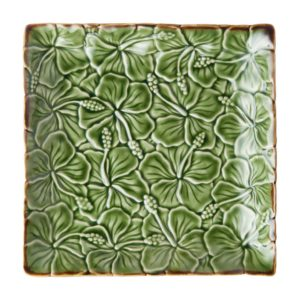ceramic plate hibiscus collection