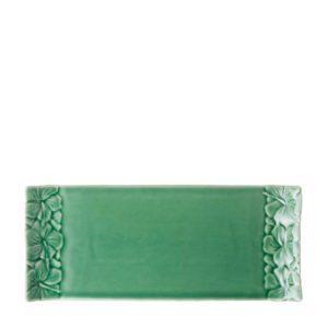 dark green gloss hibiscus tray