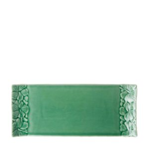 dark green gloss hibiscus tray