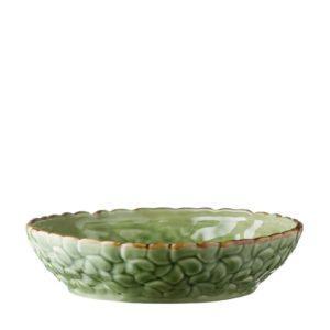 bowls dining frangipani green gloss with brown rim inacraft award frangipani salad bowls
