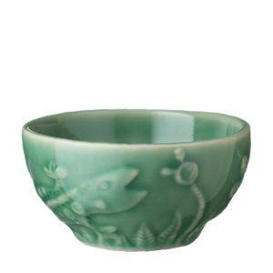artwork bowl dark green gloss rice bowl tomoko konno