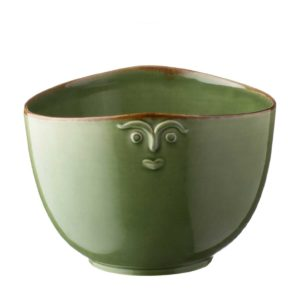 bowl cili dining green gloss with brown rim soup bowl