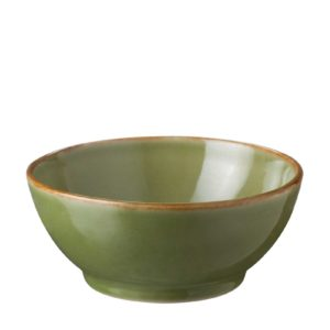 bowls classic round dining green gloss with brown rim soup bowl