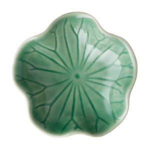 dark green gloss lotus sauce dish