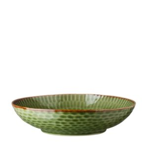 bowl grenn gloss with brown hammered