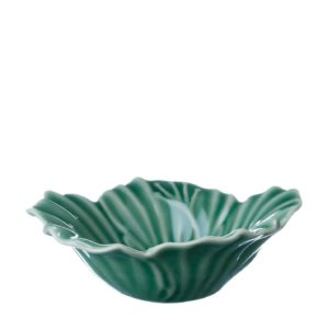 dark green gloss hibiscus rice bowl