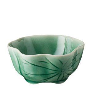 dark green gloss lotus sauce bowl