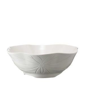 cream kahala lotus serving bowl
