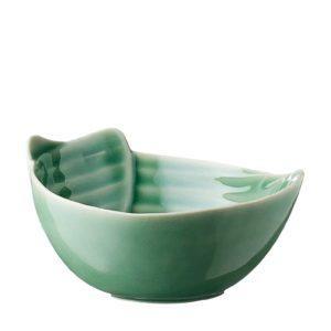 dark green gloss pincuk rice bowl