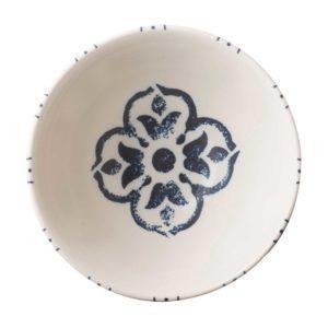 indigo floral noodle bowl