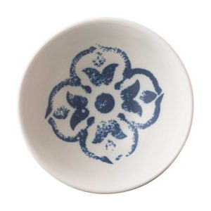 ceramic bowl dining indigo floral rice bowl