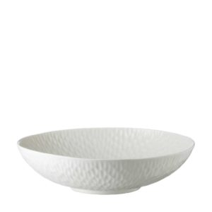 cream kahala hammered serving bowl