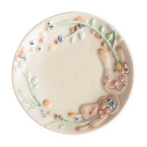 artwork sauce dish tomoko konno transparent white with handpainting