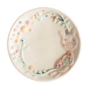 artwork sauce dish tomoko konno transparent white with handpainting