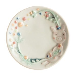baby blue with handpainting sauce dish tomoko konno