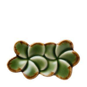 chopstick chopstick rest dining frangipani green gloss with brown rim inacraft award frangipani tabletop accessories