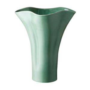 dark green gloss lotus vase