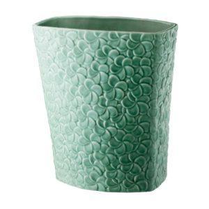 ceramic dark green gloss frangipani inacraft award frangipani stoneware vase