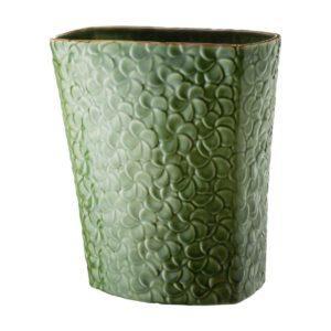 ceramic frangipani green gloss with brown rim inacraft award frangipani stoneware vase