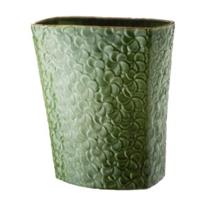 ceramic frangipani green gloss with brown rim inacraft award frangipani stoneware vase