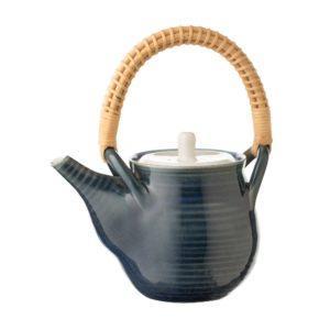 ceramic coffee coffee pot drinkware japanese golden week jugs shinny white out light varied blue stoneware tea teapot teaset