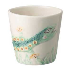 artwork ceramic coffee cup drinkware espresso saucer glass mug stoneware tea teaset tomoko transparent white with handpainting