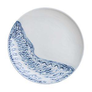 batik ceramic dining dining set dinner plate indonesian food large plate serving plate stoneware