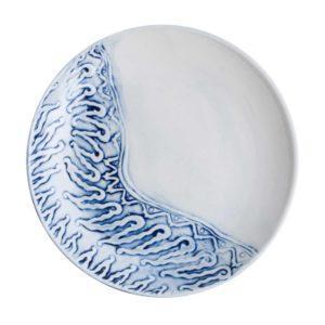 batik breakfast plate ceramic dessert plate dining dining set indonesian food medium plate stoneware