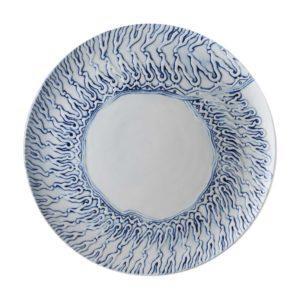 batik collection ceramic plate dining dinner plate serving plate