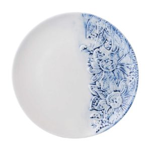 batik bread & butter plate ceramic dining dining set indonesian food plate small stoneware