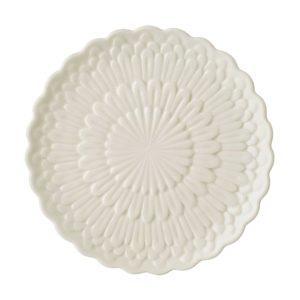 breakfast plate ceramic dessert plate dining dining set indonesian food medium plate stoneware tomoko konno transparent white