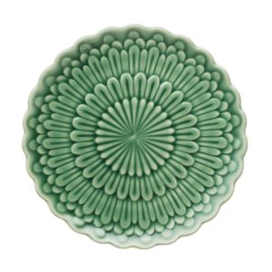 breakfast plate ceramic dark green gloss dessert plate dining dining set indonesian food medium plate stoneware tomoko konno