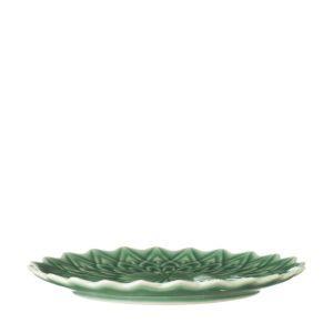 breakfast plate ceramic dark green gloss dessert plate dining dining set indonesian food medium plate stoneware tomoko konno