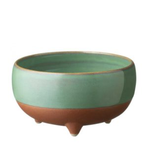 bowl dining pasih rice bowl seaform green stoneware