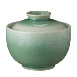 bowl ceramic dining dining set green bedugul indonesian food japanese golden week soup bowl stoneware