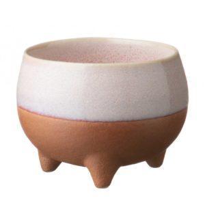 ceramic cup drinkware pasih pink beach small stoneware tripod