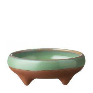 condiment dish dining pasih sauce dish seaform green stoneware
