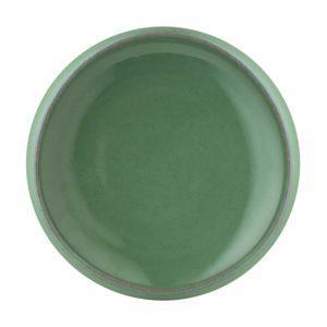 ceramic condiment dish dining pasih sauce dish seaform green stoneware