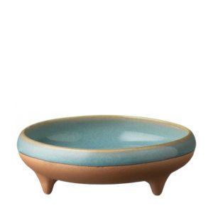 ceramic condiment dish dining ocean blue pasih sauce dish stoneware