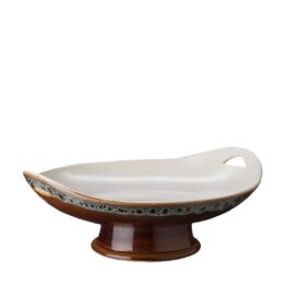 MEDIUM CLASSIC CURVED SERVING PLATE WITH STAND 4