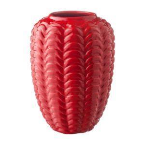 ferrari red gloss stoneware vase
