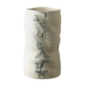marble stoneware vase