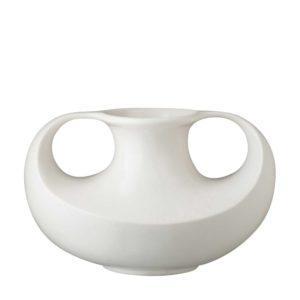 ceramic classic round cream kahala stoneware vase