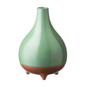 pasih seaform green stoneware vase