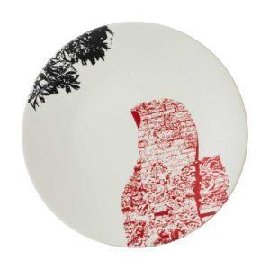 ceramic plate davina stephens dessert plate dining jenggala artwork ceramic salad plate